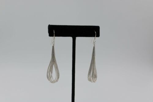 Carolyn Pollock 10 Strand Liquid Silver earrings