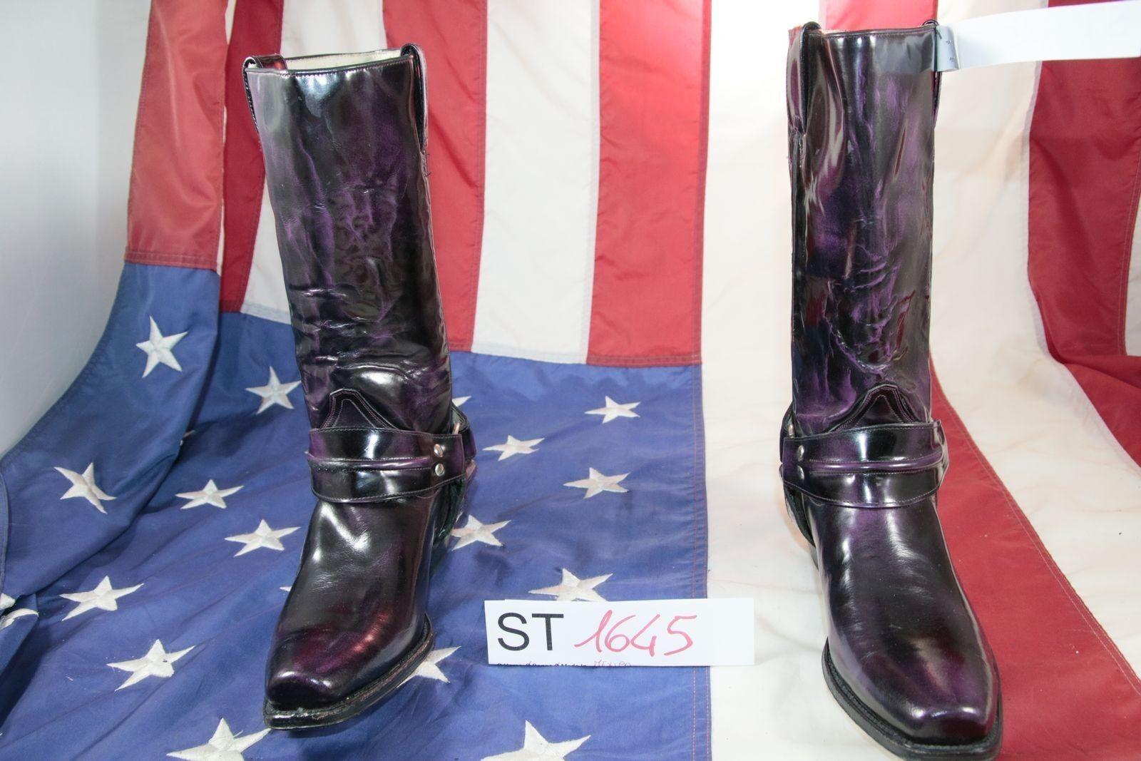 Grandes zapatos con descuento Stivali BUFFALO (Cod.ST1645) usato N.40  pelle Nero Donna Cowboy Country vintage