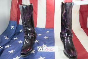 Country Cow boy 40 N cod Bottes Vintage Femmes D'occassion st1645 Cuir Buffalo 6wx8qFv