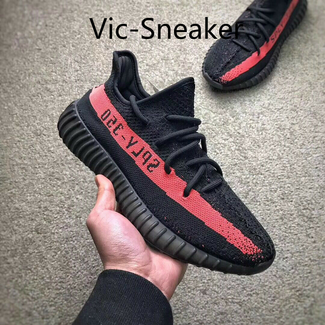 Adidas Yeezy 350 V2 Red Stripe BY9612 box) Core Black Red Size: 9.5 (w/o box) BY9612 d73713