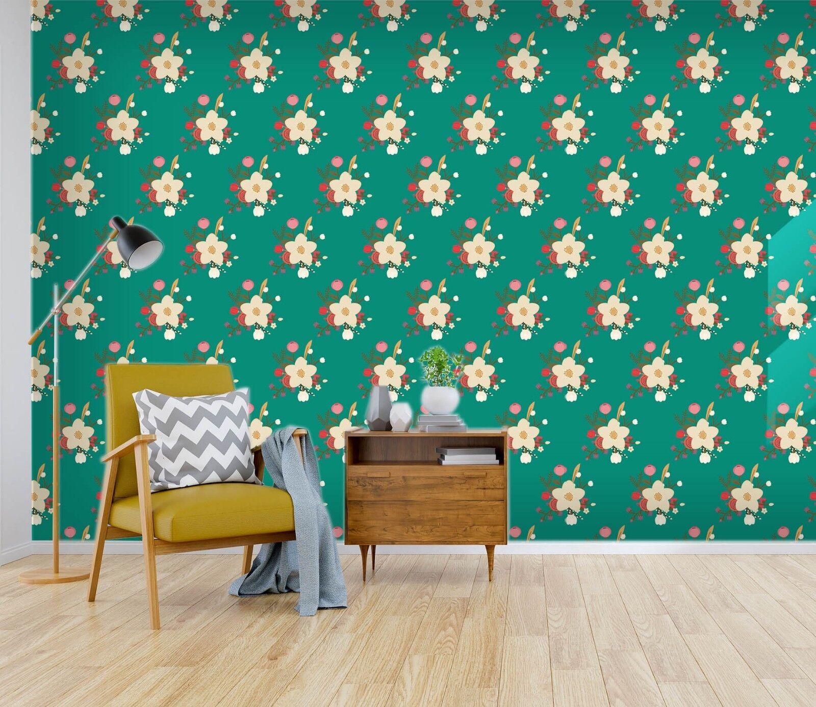 3D Grün Flower 856 Wallpaper Mural Paper Wall Print Indoor Murals CA Summer
