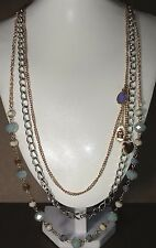 Juicy Couture Necklace - Faceted Beads - Charm Dangle -  27 inch SALE
