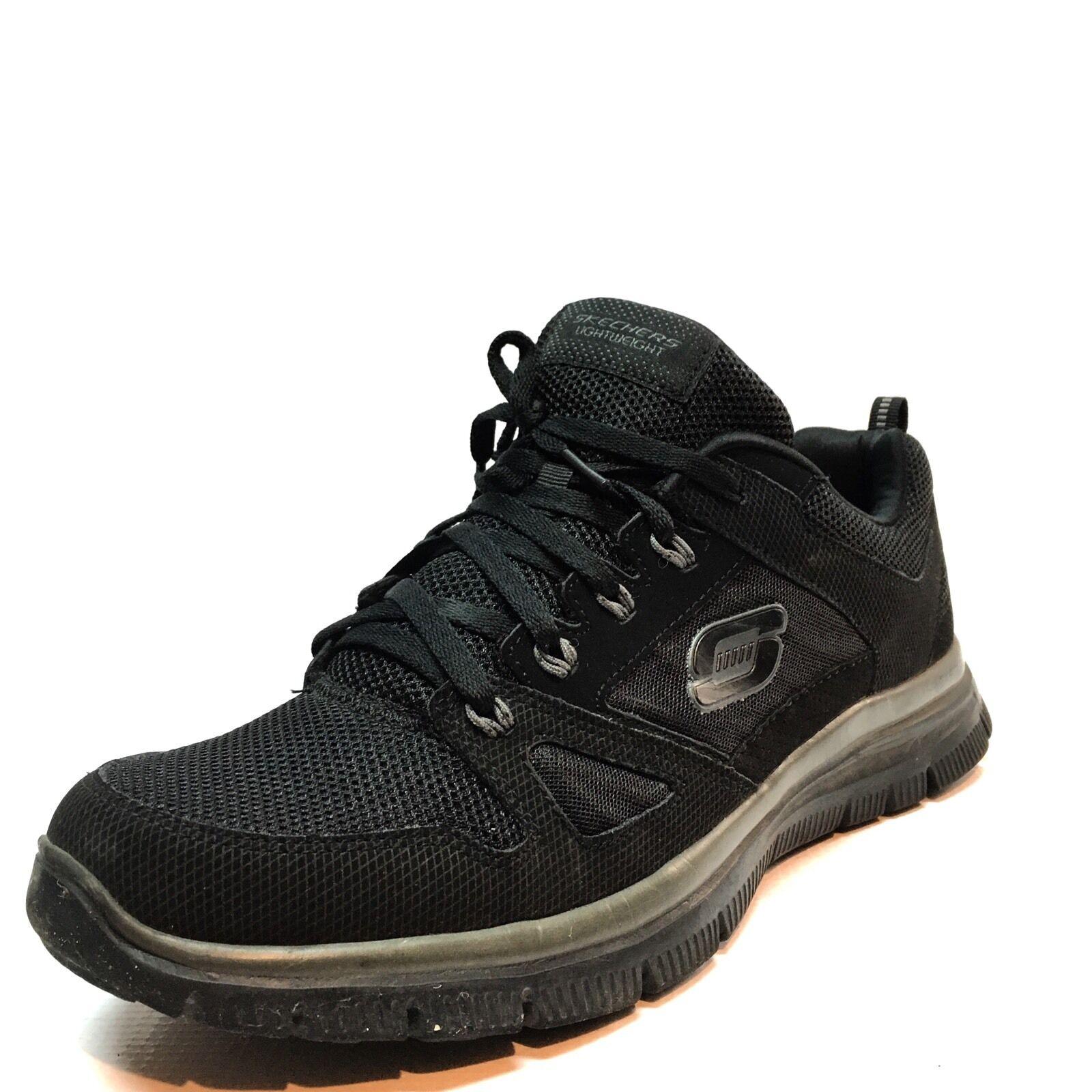 skechers skechers skechers flex vantaggio black atletico scarpe taglia 10,5 m uomini 1c7f7e
