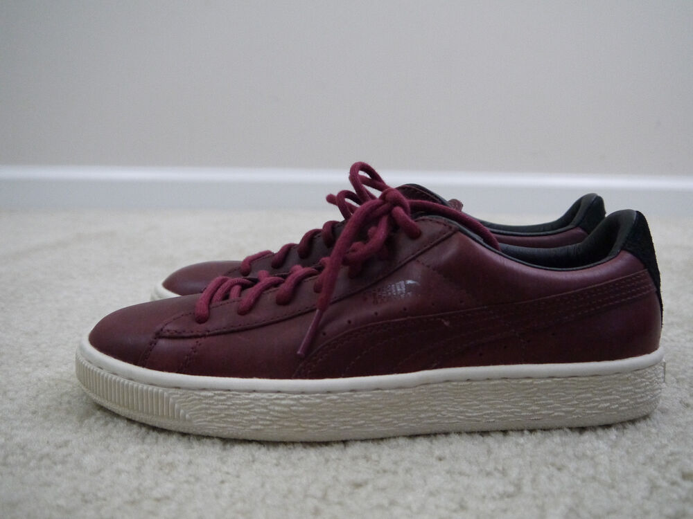 Puma homme Basket Case Citi Series Casual Sneakers rouge 7.5 NWOB