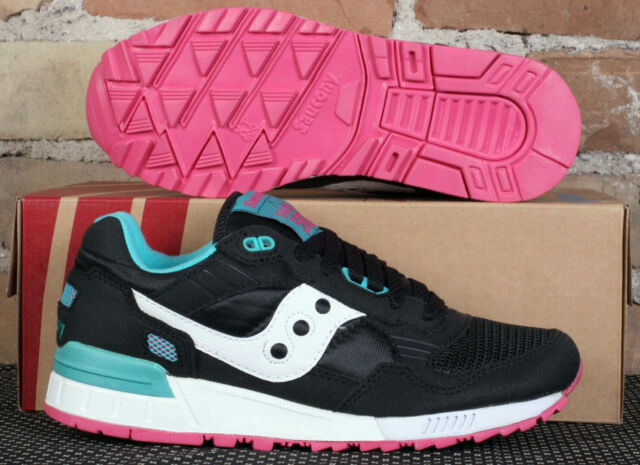 New Women's Saucony Shadow 5000 Black Teal Pink Miami Low Running Shoes Size 8