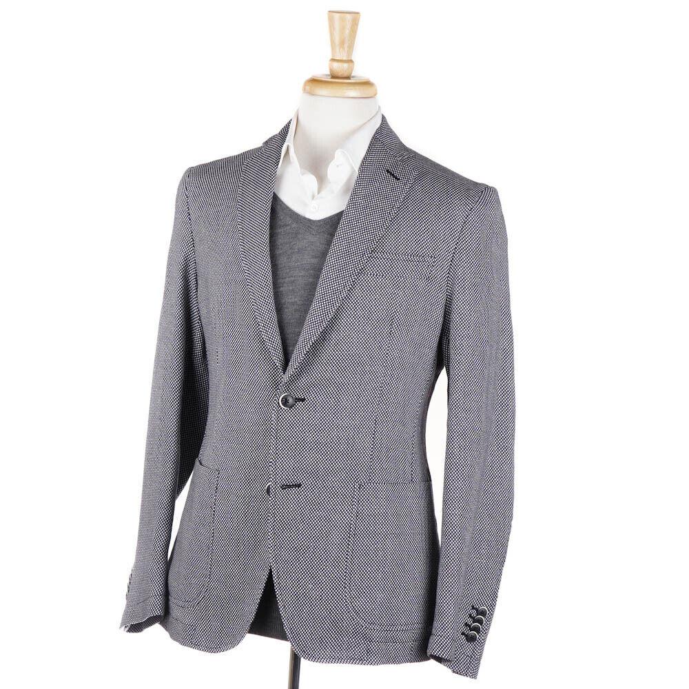 e1cff9b06 NWT RODA bluee and White Knit Pattern Sport Coat 38 R Navy Wool ...