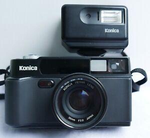 Appareil-photo-argentique-Konica-HEXAR-noir-AF-35-mm-Flash-Konica-HX-14-039-90