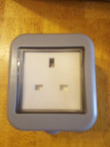 Lap IP55 13 Amp Interrupteur 1 Gang Extérieur Socket Gris