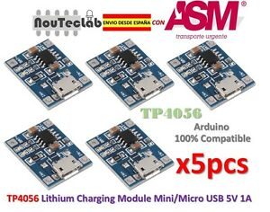 5pcs-TP4056-1A-5V-Lithium-Battery-Charging-Module-Micro-USB-ENVIO-RAPIDO