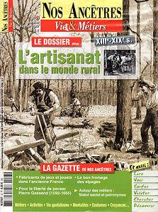 Uni Magazine Nos Ancetres N°23 Vie & Metiers Artisanat Dans Le Monde Rural Xiii-xixe Diversifié Dans L'Emballage