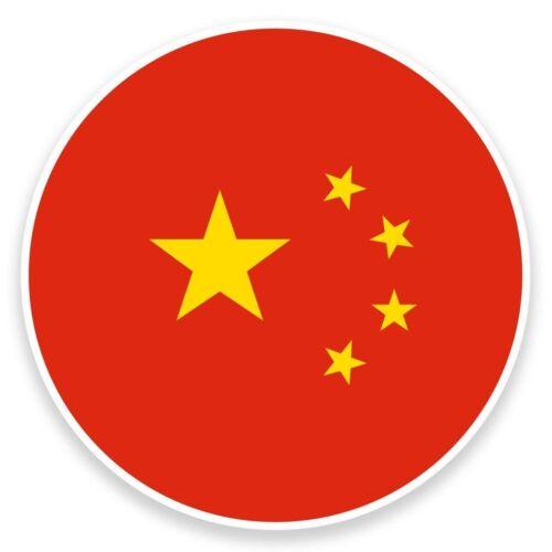 2 x China Vinyl Sticker Travel Car Luggage #9095