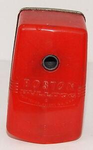 VINTAGE RED BOSTON BULLDOG PENCIL SHARPENER