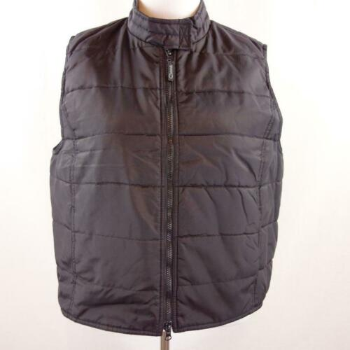 Catalina Black Nylon Double Zip Front Vest Womens
