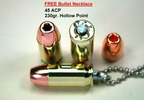 Wildcat Cartridge Inert 44 Auto Mag Silver Tip /& 440 Cor-Bon Bullet Keychain