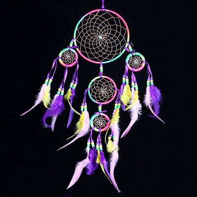 """Handmade Dream Catcher with Feather Wall Hanging Decoration Ornament-24"""" Long"""