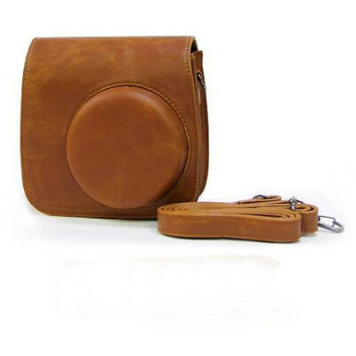 Classic Brown PU Leather Camera Case Bag For Instax Mini8 Mini8s BR Excellent