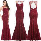 GK SPARKLY MERMAID Sequined LONG FORMAL EVENING PARTY GOWN Bridesmaid PROM DRESS