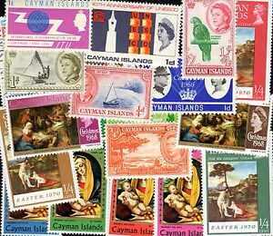 ILES CAIMANES - CAYMAN ISLANDS collections de 10 à 300 timbres différents