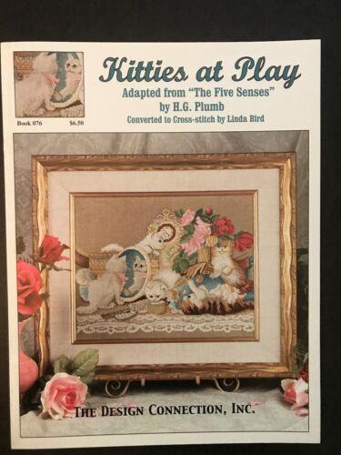 Kitties at Play,The Five Senses Cross Stitch Book Cross Stitch Patterns Cats