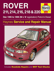 haynes 3399 workshop repair manual rover 200 211 214 216 218 220 rh ebay co uk manuel rover 200 haynes rover 200 manual download
