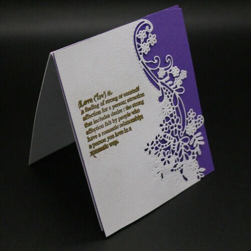Stanzschablone Kante Blume Weihnachten Stanzform Scrapbook Karte Album DIY ER