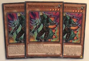 SOFU-EN008 1st Edition - Common 3 x Dinowrestler Systegosaur