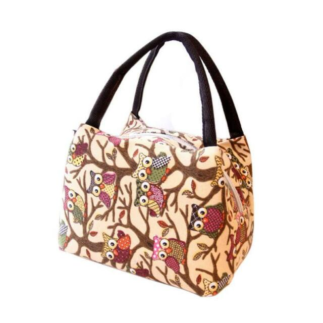 Thermal Insulated Tote Picnic Lunch Bag Cool Bag Cooler Lunch Box Handbag Pouch