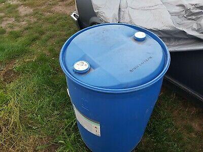 200 L blau Kunststoff Plaste Fass Wasserfass Regenwasserfass Spundfass ca