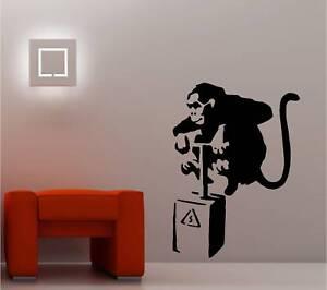 BANKSY STYLE MONKEY DETONATOR WALL ART STICKER DECAL