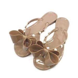 dda004c800959 Women Girl Jelly Bow Summer Beach Sandals Thong Slipper Flip Flops ...