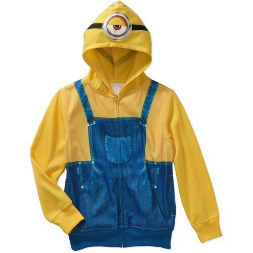 8 NWT L 10-12 Minion Childs Boys Size Movie Costume Hoodie Sz M