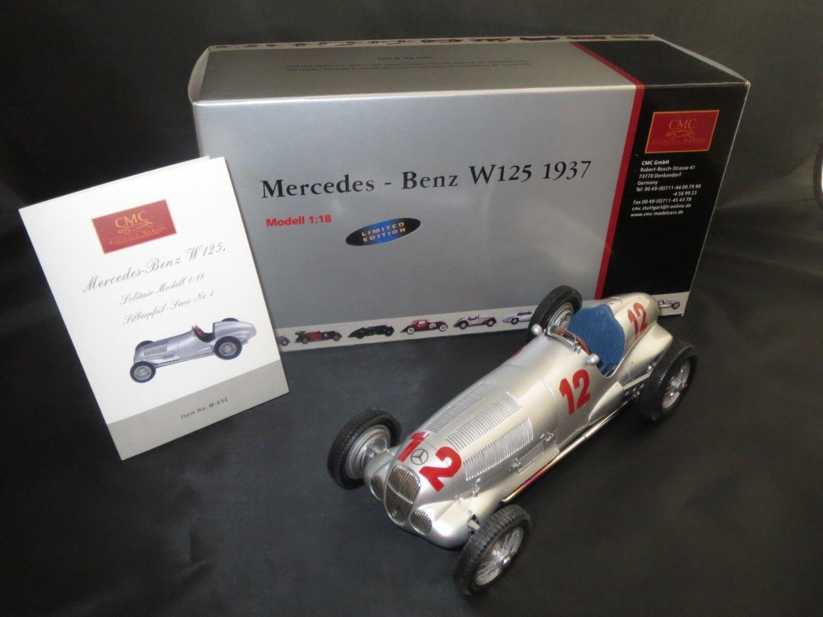 CMC M - 052 Mercedes-Benz w125  1937   12 1 18 neuf dans sa boîte