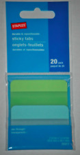 Staples Durable Repositionable Transparent Sticky Tabs 20 Pack
