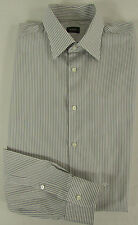 JOOP! Hemd KW 41 Gr 52-54 weiß grau Freizeithemd Chemise Camisa 100% Baumwolle