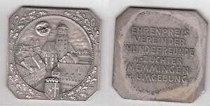 MEMMINGEN Ehrenpreis Hundefreunde ca. 52,92 g ca. 52 x 52 mm Plakette Motiv K.