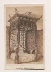 Vintage-CDV-State-Bed-At-Haddon-Hall-Bakewell-Derbyshire-Dukes-of-Rutland
