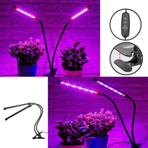 1PC LED Plant Light Flexible 2 Heads USB Flower Growing Lamp for Greenhouse