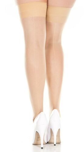 Red Black White Nude Sheer Seamed Stockings Leg Avenue 1000 Vintage