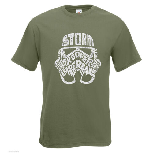 Storm Trooper Text Mens PRINTED T-SHIRT Movies Star Wars Imperial Empire