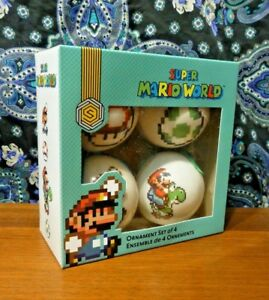 Super Mario World Christmas.Details About Super Mario World Ornament Set Of 4 Christmas Decorations New
