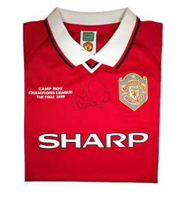 Andy Cole Signed Manchester United 1999 Champions League Final Signed Shirt