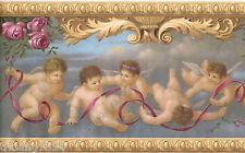 Victorian Architectural Antique Molding Angels Cherubs Rose Wallpaper Border