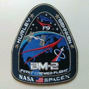 NASA Mission SpaceX Dragon DM-2 Space Flight Launch Iron On Patch