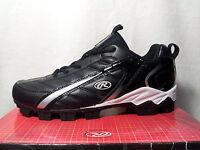 Rawlings Boy's Baseball Cleats Black Shoes - Size 6y