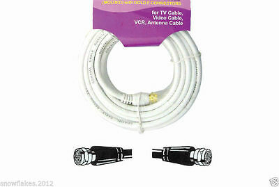 White 100ft RG59U Coaxial Digital Video Cable HD TV Satellite Antenna Wire VWLTW