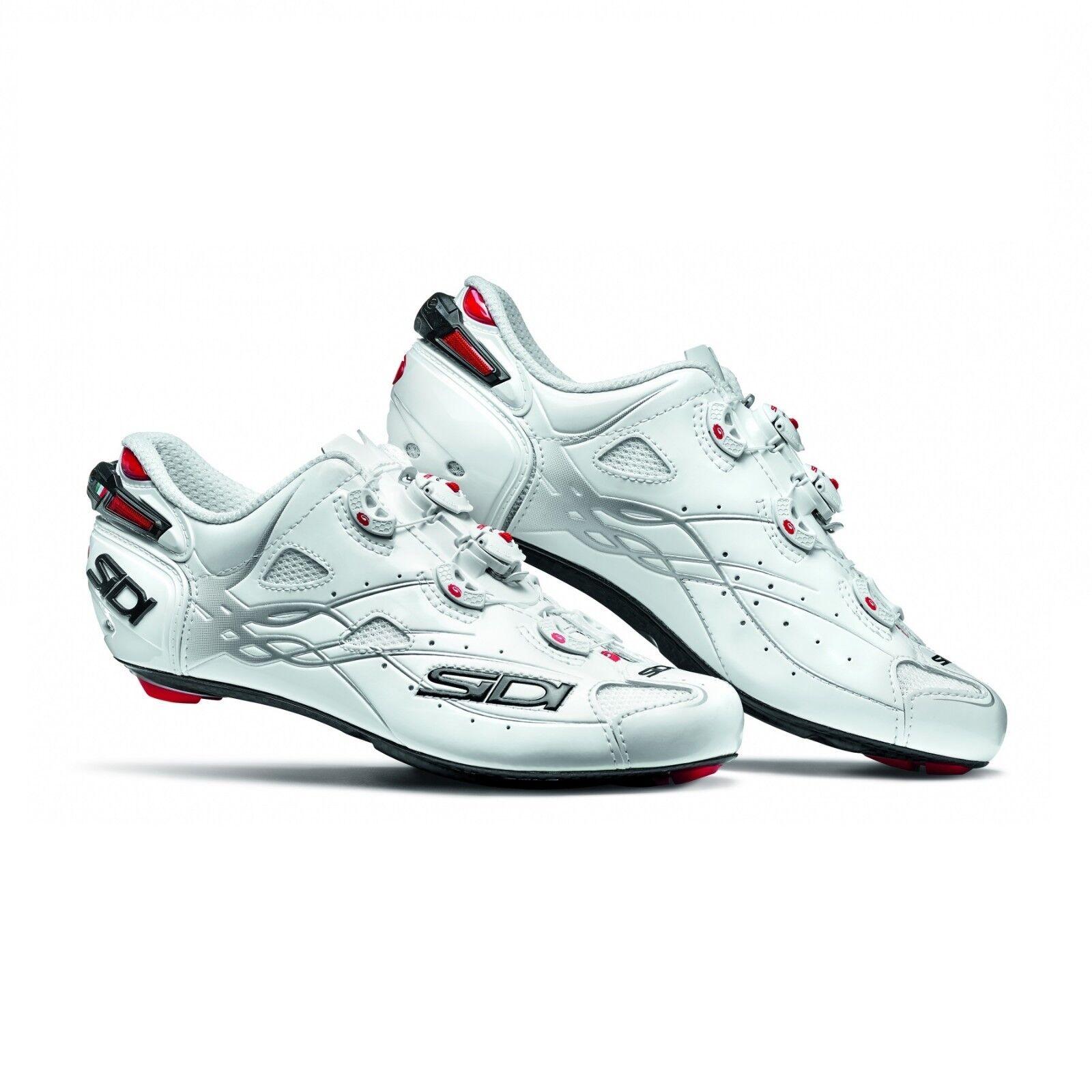 SIDI Shot Road Carbon Cycling shoes Cleat Bike shoes White White 40-46 EUR
