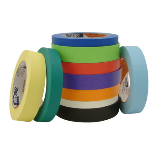 Shurtape CP-631 Colored Masking Tape Red 1//2 in x 60 yds.