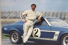 Ford 1969 Boss Trans-Am Mustang Carroll Shelby Racing Postcard Vintage SCCA 1970