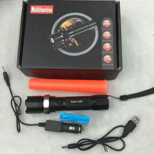 Multifuction 3Modes Dimmable Zoom LED Rechargeable 18650 Flashlight Torch Lamp