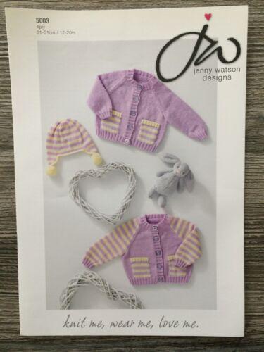 """5003 4ply 12-20/"""" Jenny Watson Knitting Pattern: Baby Cardigans"""
